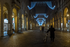 This Is A Place #2 (Levan Kakabadze) Tags: bologna italy streetphotography night bicycle levankakabadze cold winter italia x100s fujifilm 2016 january