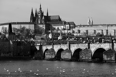 Prague, Czech Republic. (廖法蘭克) Tags: czechrepublic cz czech prague canon 6d vacation friends frank photographer photography photograph weekend cold christmas trip relax 捷克 布拉格 聖誕節 charlesbridge charles bridge 查理大橋 metropolitancathedralofsaintsvitus church 聖維特主教座堂 canonef70200mmf4lisusm sunny river city rivercity 伏爾塔瓦河 vltava moldau