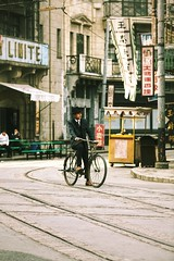 Cycling backwards~ shanghai (~mimo~) Tags: portrait tracks photography street nostalgic old bicycle city urban china shanghai songjiang