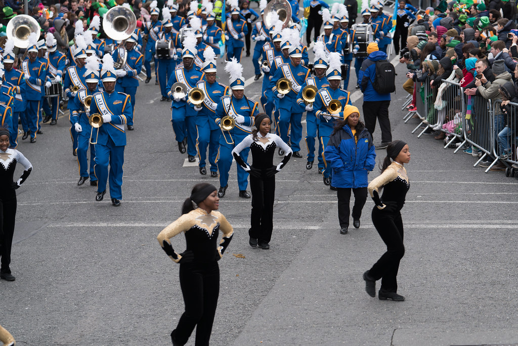 Bahamas All-Stars Marching Band [In Action During The St. Patrick's Day Parade 2017]-125764
