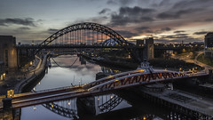 Sunrise over the Tyne (Adam W2017) Tags: newcastle tyne bridge river england long exposure sunrise nikon d810 lee filters north east swing millenium sage