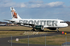 Frontier Airlines Airbus A319-111 - N922FR (AeroPX) Tags: aeropx airbusa319 caryliao ewing foxytheredfox frontierairlines kttn n922fr nj newjersey ttn trentonmercercountyairport