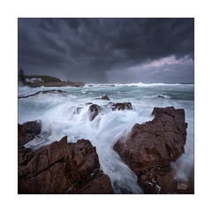 Unsettled (Mike Hankey.) Tags: nelsonbay seascape published portstephens fishermansbay stormy