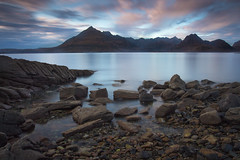 Sunset over Cuillin Mountain Range (Marc Böhning) Tags: elgol isle skye cuillin sunset scotland beach coast canon 1740 lee filters long exposure clouds