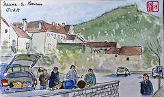 Le Tour de France virtuel - 39 - Jura (chando*) Tags: sketch aquarelle watercolor france