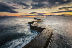 Zig-Zag (Neillwphoto) Tags: stmonans zigzag pier jetty sea sunset