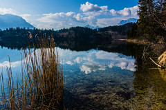 Clear Water (*Capture the Moment* (back 4 September)) Tags: 2017 barmsee bavaria bayern berge clouds deutschland elemente germany himmel lake lakebarmsee landschaften mountains reflection reflections reflexion see sigma1181835mmart sky sonya77 sonyalpha77 spiegelung wasser water wetter wolken cloudy wolkig