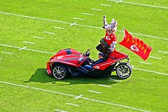 Mascot - Kansas City Chiefs v Jacksonville Jaguars - 2016 (Explored) (Dis da fi we (was Hickatee)) Tags: mascot usa kansas arrow head arrowheadstadium arrowhead chief chiefs football americanfootball kansascity