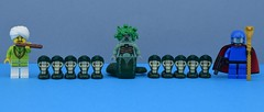 The cobra alliance🐍🔫 (Alex THELEGOFAN) Tags: lego legography minifigure minifigures minifig minifigurine minifigs minifigurines cobra commander snake charmer medusa animal