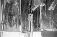 Tonight... (polykrom_) Tags: mirror reflection bw bnw blackandwhite noiretblanc monoart monochrome monochromatic nikonfe2 ilfordhp5 50mm nikon nofilter filmisnotdead analog