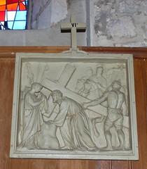 Pouillon, Landes: église Saint Martin, chemin de croix du XIX°. (Marie-Hélène Cingal) Tags: france sudouest aquitaine nouvelleaquitaine landes 40 pouillon véronique