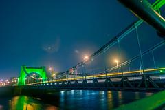 Green bridge? (pasiak75) Tags: 2017 grundawdzki wrocław brigde deszcz green lights most night noc rain zielony światła