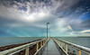 After the Storm (Beth Wode Photography) Tags: storm rainbow stormclouds wellingtonpoint redlands wellingtonpointjetty jetty pier moretonbay beth wode bethwode