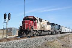 Red, white and blue (AndyWS formerly_WisconsinSkies) Tags: train railroad railway railfan canadianpacificrailway canadianpacific cprail cp sooline soo soolinesd60 emd sd60 emdsd60 locomotive