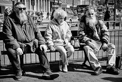 ZZ Top or ZZ OAP (phil anker) Tags: street people mono bench salisbury fujix70