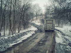 A Lifetime Ago... or so it seems. (Paul B0udreau) Tags: truck purolatorcourier winter snow rural canada ontario stcatharines
