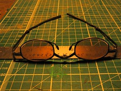 fold up glasses, ruler, cutting mat, 2017-03-15, 09-36-15 (tributory) Tags: art vision site measuring grid sight precision conjunction convergence pattern green brown lines crafts work tools creativity glasses ruler cuttingmat square matrix glass steel rubber spectacles silver measure scale black creativephoto