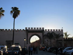 Bab Belqari and palms, winter evening, Meknes, Morocco (Paul McClure DC) Tags: meknes meknès morocco almaghrib jan2017 architecture historic