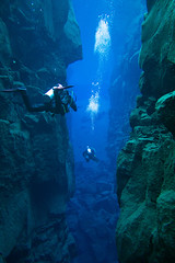 Silfra Fissure-Thingvellir (nickturner5) Tags: underwater photography silfra iceland cold water thingvellir clarity visability sony bubbles drysuit
