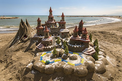 Sand Castle (My First HDR) (- Cajón de sastre -) Tags: flickrfriday hdr castillodearena sandcastle málaga costadelsol andalucía españa spain primavera spring