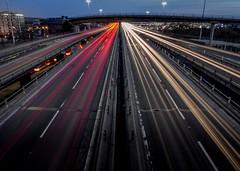 Light trails (802701) Tags: glasgow lighttrails longexposure nightshot nightphoto nightphotography traffic m8 m8motorway motorway glasgowatnight