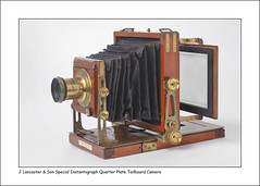 Lancaster & Son Special Instantograph Quarter Plate Camera (Steve Given) Tags: camera antique photography photographic equipment lancaster instantograph tailboardcamera wood brass