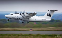 Trans Capital Air (United Nations) - De Havilland Dash 7-100 - C-FWYU - Dortmund Airport (01/04/2017) (spottermarc) Tags: trans capital air un united nations de havilland dash 7100 7 100 dhc7 jet serial number dtm edlw dortmund 21 airport aircraft taxiway taxiing landing take off airplane cfwyu 132002 cgile n678ma canada us states 12 cn ln canon 5d mark ii transport