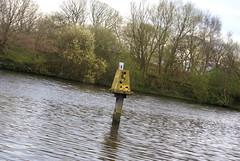 MSC Damaged Navigation Beacon (Azzcart2000) Tags: corrosion rust manchestershipcanal navigation beacon damaged