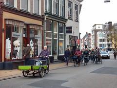 Bicycles (sander_sloots) Tags: bikes boxbike bakfiets groningen fietsen people mensen fietsers driewieler tricycle oude ebbingestraat street scene