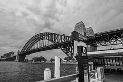 DSC00006 (Damir Govorcin Photography) Tags: jeffrey street wharf kirribilli sydney harbour bridge blackwhite water wide angle architecture clouds sky sony a7rii zeiss 1635mm creative perspective composition natural light
