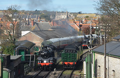 Swanage Gala Day April 2nd 2017 (davids pix) Tags: 80146 british railways riddles standard tank 34070 manston bulleid pacific m7 lswr 30053 engine preserved steam railway locomotive swanage station 2017 02042017