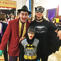 Batman family (t.horak) Tags: batman family carnival joker catwoman fun party face funny expression