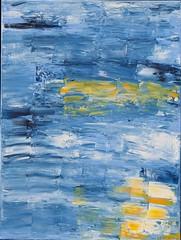 Reflexion in Gelb (size10x15) Tags: leibl original wasser sonne see gelb yellow blue blau acryl