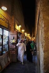 Narrow Streets (michael.veltman) Tags: doha qatar shop lined pedestrian street night