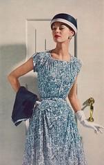 Celanese 1956 (barbiescanner) Tags: vintage retro fashion vintagefashion 50s 50sfashion vogue vintagevogue vintageads celanese jeanpatchett