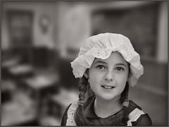 Victorian Schoolgirl (rogermccallum) Tags: victorian school classroom education schoolgirl monochrome