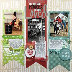 To All the Mares I Have Loved Before (girl231t) Tags: 2017 paper scrapbook layout rsg sketch13 12x12layout sketchbased