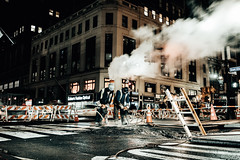 New York (Tim RT) Tags: tim rt usa newyork new york city night shift nighter turn people street america smoke construct roadwork road works beautiful lights 2017 photography outdoor travel hyperbeast visual inspired fuji fujifilm xt xt2 xf1024mm 24mm picture