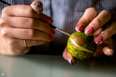 Artist's hands (cekuphoto) Tags: anja color easter gosia poland art artists colors eggs hands mani paint painting tradition helios 44m7