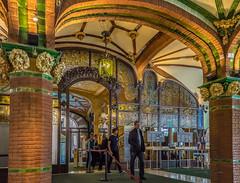 "Entry & Foyer ""Palau de la Musica Catalana"" Barcelone (capvera) Tags: architecture modernisme catalan barcelone 19051905 artnouveau foyer entry cafeteria ceramics glass stainedglass palais musique sonyimages a7mii stones arcades colonnes espagne spain catalunya"