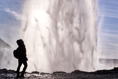 Walking behind the Seljalandsfoss waterfall. Iceland, Self-portrait. (amanecer334) Tags: iceland selfportrait myself dreamy water wanderlust waterfall adventure travel traveller silhuette magic magical icelandic landscape seljalandsfoss foss north scandinavia explore solo nature amazing world natural contrast light shadow