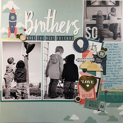 Brothers Make the Best Friends (girl231t) Tags: 2017 paper scrapbook layout rsg sketch10 12x12layout sketchbased