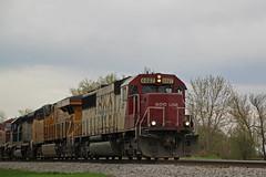 SOO 6027 leads 281 again with a colorful lash (AndyWS formerly_WisconsinSkies) Tags: train railroad railway railfan canadianpacificrailway canadianpacific cprail cp sooline soo soolinesd60 soosd60 emd emdsd60 sd60 locomotive