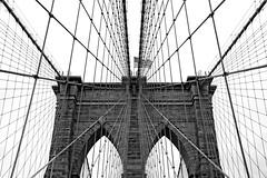 Brooklyn Bridge Tower B&W (Stuartist) Tags: bw tower brooklynbridge wwpw2014