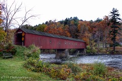 West Cornwall Covered Bridge II (kth1110) Tags: autumn water connecticut country newengland ct coveredbridge countryroad