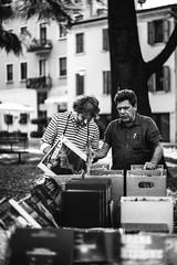 (garygraphy) Tags: italy verona monochrom fleamarket 2014 oldrecords 50mmsummiluxpreasph