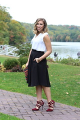 East vs. West Style: Fall Beauty | Black Midi Skirt & Sequin Clutch | #LivingAfterMidnite (jackiegiardina) Tags: fall beauty outfit style blogger livingaftermidnight livingaftermidnite jackiegiardina