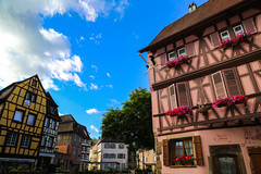Morning Stroll Through Colmar, France (thereflectivelens) Tags: flowers france window architecture buildings morninglight europe eu colmar alsace charming quaint windowbox halftimbered colombages morningstroll hautrhin