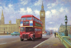 Westminster Bridge (Leonard Bentley) Tags: uk london artist bigben routemaster metro