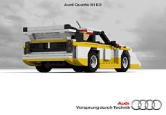 Audi Sport Quattro S1 E2 (lego911) Tags: auto birthday classic car sport vw germany model lego render rally evolution racing german wrc s1 18 audi 7th challenge cad vag racer lugnuts povray quattro 84 moc e2 ldd miniland attheraces lego911 lugnutsturns7…or49indogyears